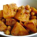 pumpkin and chickpeas