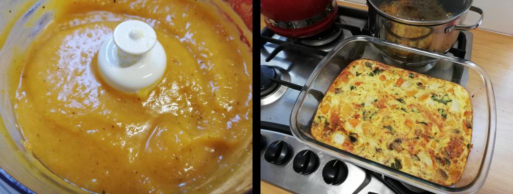 Roasted Butternut Soup & Frittata